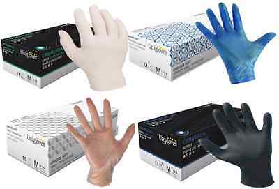 Disposable Powder Free Disposable VINYL LATEX NITRILE Gloves Small Medium Large
