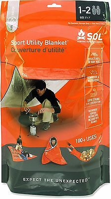 SOL Sport Utility Blanket - Emergency Survival Shelter, Tarp, and Ground Cover