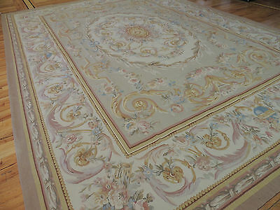 10x14 Magnificent Large French Aubusson Style Area Rug Oriental Area Rug