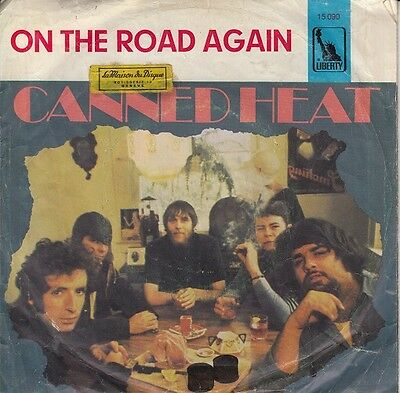 """Canned Heat – On The Road Again r@re 7"""" single 45 Germany 1968"""