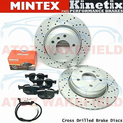 FOR BMW 5 SERIES E60 E61 520d 525d 530d REAR PERFORMANCE BRAKE DISCS MINTEX PADS