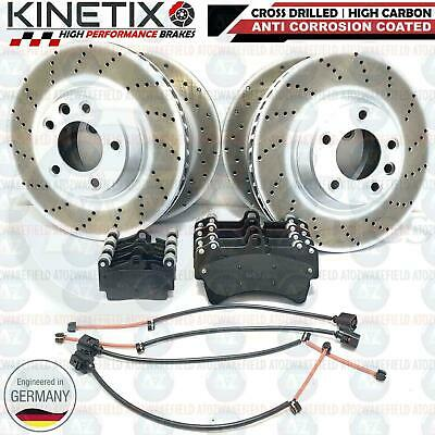 For Audi Q7 Front Rear Drilled And Grooved Mintex Brake Discs Pads Set Kit