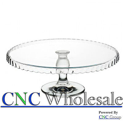 Patisserie Downturn Glass Footed Serving Plate Cake Stand Wedding Birthday Gift