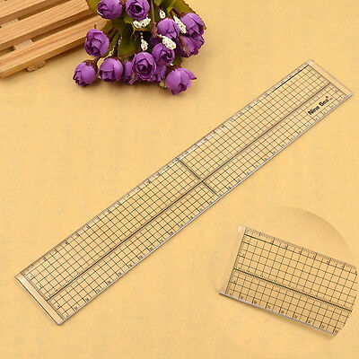 30cm Acrylic Patchwork Sewing Ruler Grid Cutting Template Transparent 1pc