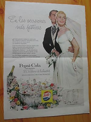 Pepsi-Cola Advertising 1953 Published In A Latin American Magazine