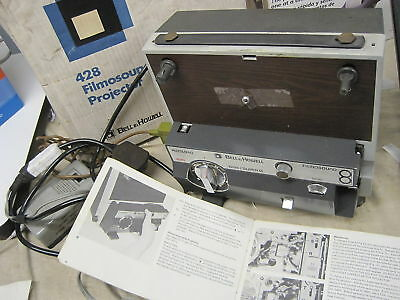 Cine film projector BELL & HOWELL 428 8mm & S8mm +box 2