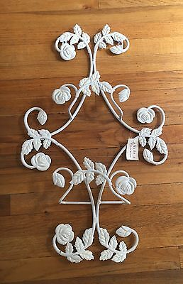 Exquisite Plate Photo Frame Rack Wall Display Holder Wrought Iron White Shabby