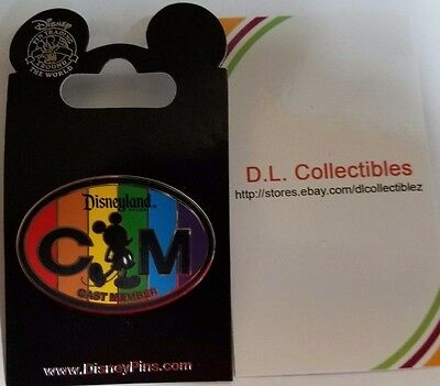 Disney Mickey Mouse cast member Exclusive CM Rainbow Logo Mickey Mouse pin