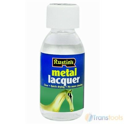 Rustins Metal Lacquer 125ml For Adhesion On Chrome, Brass, Copper and Silver