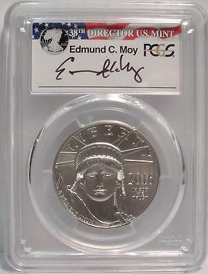 2016 Platinum Eagle - PCGS MS70 - Signed by Edmund C. Moy 38th Mint Director