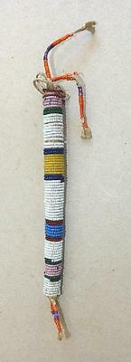 19Th Century Plains Indian Beaded Deer Hide Awl Case