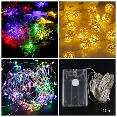 Wire String XMAS Fairy Lights Party Decorations Christmas 2018 Wedding Battery