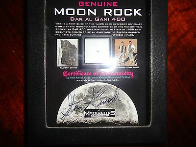 Authenticated Moon rock in glass front box