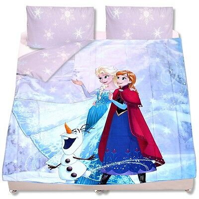 kinder bettw sche die eisk nigin doppelbett perkal baumwolle bettset disney elsa eur 9 90. Black Bedroom Furniture Sets. Home Design Ideas