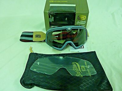 100% Barstow Legend Goggles Gray 50001-021-02