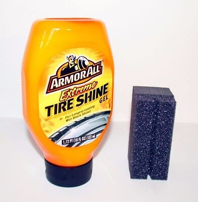 NEW Armor All EXTREME TIRE SHINE Gel Wet Black Shine + Gel Control Applicator