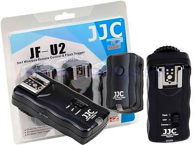 3 -in-1 JJC 30m Wireless Remote Trigger for Camera and Flash incl. 2 Receivers