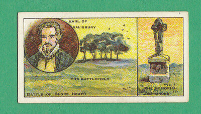 Military  - Smith  - Rare Battlefields Of G.b. Card  -  Blore  Heath  -  1913