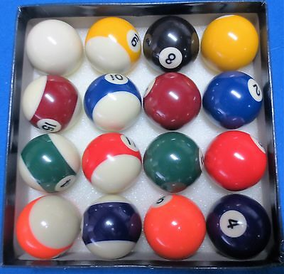 "Premium 1 7/8"" Kelly Ball Set - Snooker Billiards Pool - By Palko"