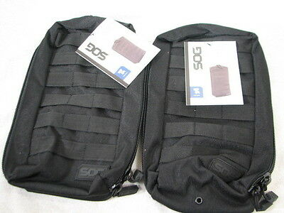 Sog Large Accessory Pouch New Black Molle (2) Two Pouches
