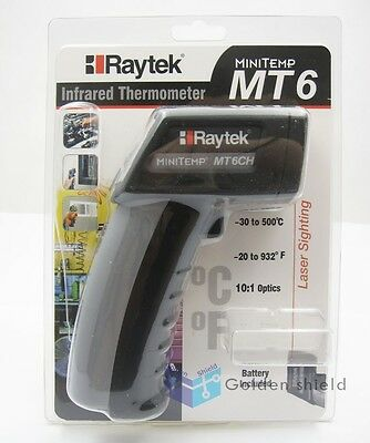 Raytek MT6 Infrared Mini Temp Laser Thermometer IR Gun (-30 to 500 ℃) Brand New