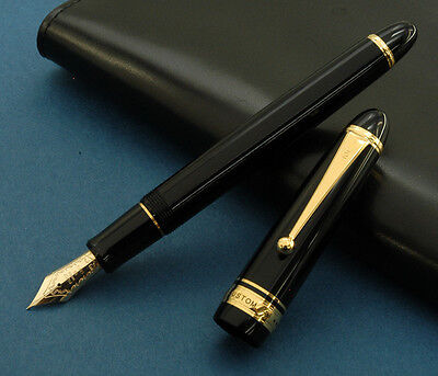 Pilot Namiki Custom 743 Black Stylo Plume Or 14 Carats 14K Gold Nib Fountain Pen
