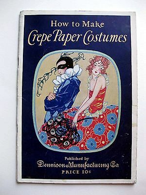 1925 Dennison How To Make Crepe Paper Costumes Booklet Great Deco Designs