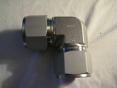 Stainless Steel Swagelok SS-3200-9 Tube Fitting, Union Elbow