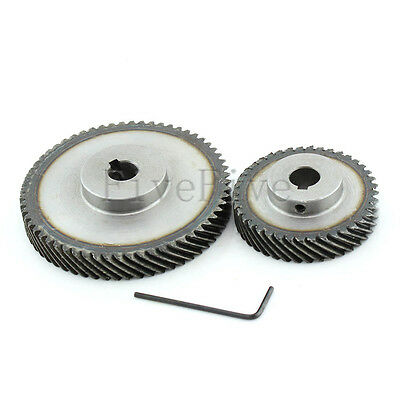 1M 60T/40T Metal Helical Wheel Gear 90° Pairing Bevel Gearing Set Kit Ratio 3:2