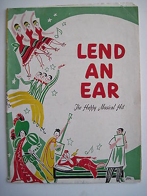 """Lively 1948 Program """"Lend An Ear"""" The Happy Musical Hit by Charles Gaynor *"""