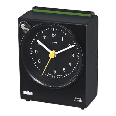 NEW Braun Voice Activated Alarm Clock Black