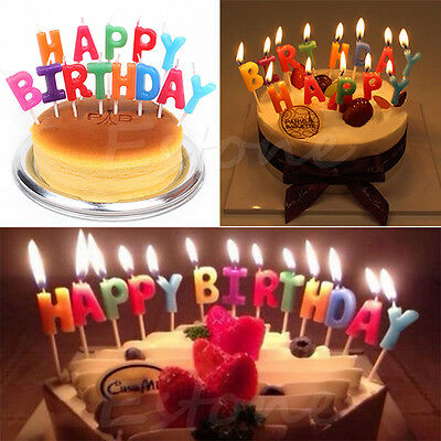 Happy Birthday Letter Candles Toothpick Cake Candle Cute Kids Party Decoration