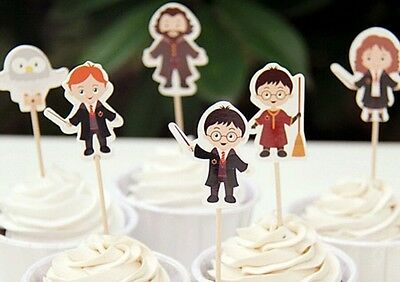 24 x HARRY POTTER CUPCAKE CAKE TOPPERS / PARTY SUPPLIES/ BIRTHDAY/