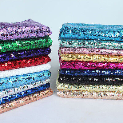 """Glitz Sequin Fabric Wedding Party Events Glitters Decoration 50"""" wide by Yard"""