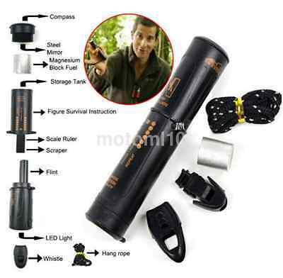 10-in-1 Survival Tool Outdoor Camping Emergency Kit Compass Flint Accessories US