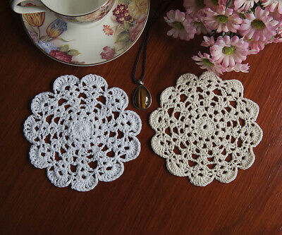 Cotton Hand Crochet Lace Doily Doilies Mat Placemat Mat Round 14CM in 9 Colours