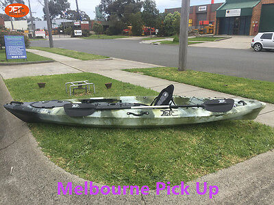 Jetocean 3.6M 12ft Single Sit-On Fishing Kayak with Paddle and Seat