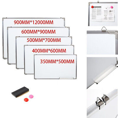 Small/Medium/Large/XL Magnetic Dry Wipe White Board Drawing Memo Notice Board