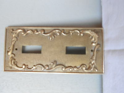 Vintage FRENCH bronze  Switch plate /  Outlet Cover
