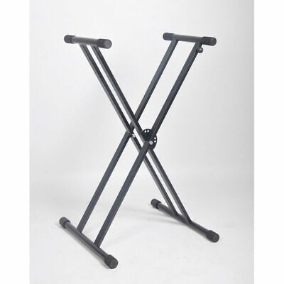 Heavy duty Double Braced Keyboard Stand 60Kg Capacity Fast Height Adjustmet