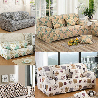 1/2/3 Seater Sofa Slipcover Stretch Protector Soft Couch Lounge Cover