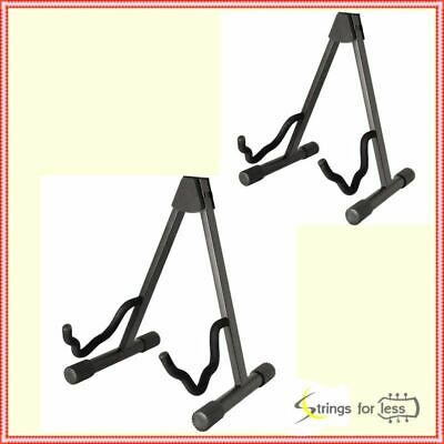 Heavy Duty A Frame Guitar Stand Fits Acoustic, Electric or Bass Guitars 2 Pack