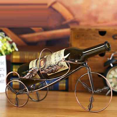 Red Wine Bottle Holder Rack Storage Bicycle Shape