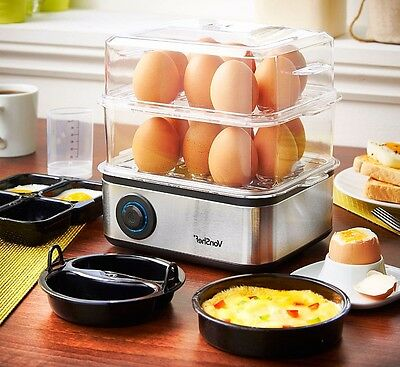 16 Electric Egg Boiler Steamer  Poacher Cooker Omelette Maker