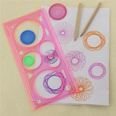 2X Spirograph Geometric Ruler Drafting Tools Stationery For Students Drawing Set