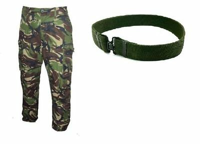 LIMITED OFFER - 95 CAMO TROUSERS & 1x95 WORK BELT - BRITISH ARMY ISSUE - GRADE 1
