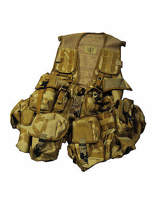 British Army - Desert Camouflage Assault Vest - USED - ONE SIZE -  SP241