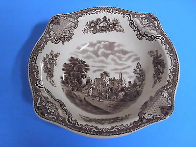 Johnson Bros England Old Britain Castles Serving Bowl 8 3/8 Inches Brown