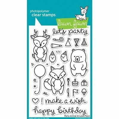 Lawn Fawn - Clear Stamps - Party Animal LF893