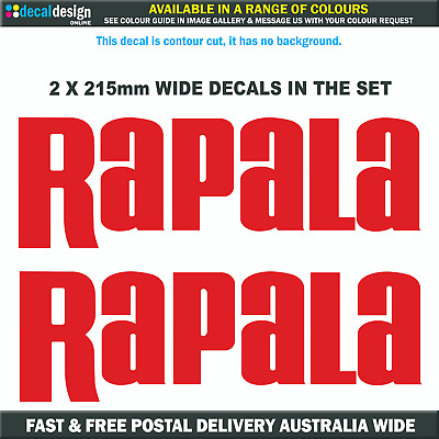 Rapala Decal x 2 in a set, vinyl stickers suits boat fishing tackle graphics